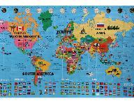 Foam World Map Kit - English/Korean
